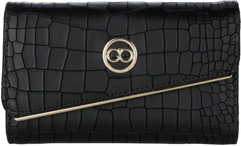 Gio Collection Women Black Artificial Leather Wallet