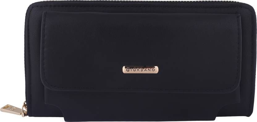 Giordano Women Black Artificial Leather Wallet